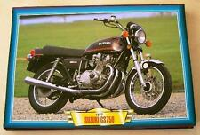 SUZUKI GS750 GS 750 VINTAGE CLASSIC MOTORCYCLE BIKE 1970'S PICTURE 1977 PRINT