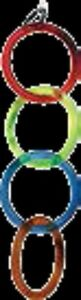 4Pet One P1-22461 Parrot Toy Acrylic 4 Rings