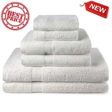Bath Towel 6 Piece Set Bathroom Towels 100% Egyptian Cotton Luxurious