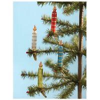 "5"" Set/4 Bethany Lowe Candle Clip Christmas Tree Ornaments Retro Vntg Decor"