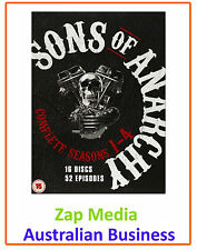 SONS OF ANARCHY - COMPLETE DVD SEASON SERIES 1, 2, 3 & 4 - BRAND NEW & SEALED