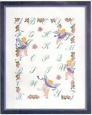 "Counted Cross Stitch Kit ""ABC Sampler"" on 14 count Aida"