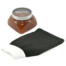 Marocain Beldi Black Soap Savon Noir Argan 250g avec Sensible Kessa Gant