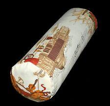 LL325g Beige Black Music Notes High Quality Cotton Canvas Bolster Cushion Cover
