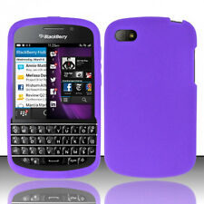 For BlackBerry Q10 Rubber SILICONE Soft Gel Skin Case Phone Cover Purple