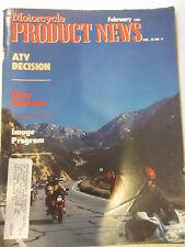 Motorcycle Product News Magazine February 1988 Cincinnati Spotlight 3 wheel ATVs