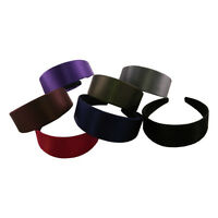 Wide Hard Headbands Satin Colorful Girls 2 Inch Hair Band Accessory No Teeth