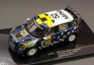 Mini John Cooper Works #52 8th Sweden 2012 Sandell / Parme Santander 1:43 Model