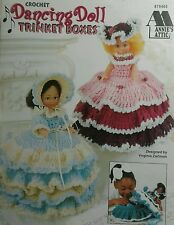 Annie's Attic Doll Trinket Boxes Crochet Patterns dress hat book baby girl gift