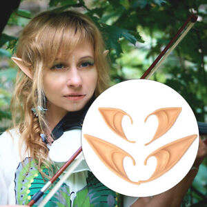Elf Ears Cosplay Wrap Fairy Goblin Artificial Ears Halloween Costume Party