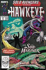 Solo Avengers Hawkeye Comic Issue 17 Copper Age First Print Defalco Morrelli