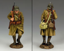 KING & COUNTRY FIELDS OF BATTLE FOB129 FRENCH POILU MARCHING MIB