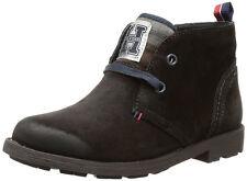 Tommy Hilfiger Desert Boots Schnürstiefel Braun Leder Gr 34 Top auch für Mädchen