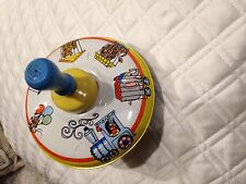 VINTAGE OHIO ART METAL TIN TOY SPINNING CIRCUS ANIMALS TOP No. 304B177