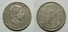ESPAÑA. SPAIN. ALFONSO XII. ALPHONSE XII.  50 CENTAVOS DE PESO 1882 MANILA.  MBC