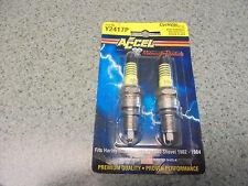 ACCEL PLATINUM SPARK PLUGS  Y2417P Harley Shovelhead (2 sets- 4 plugs total.)