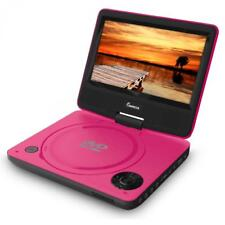 IMPECCA DVP-772 7in 270° Swivel Screen Portable DVD Player, Pink