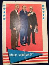 1961 FLEER GREATS BAKER, COBB & WHEAT #1 - CHECKLIST