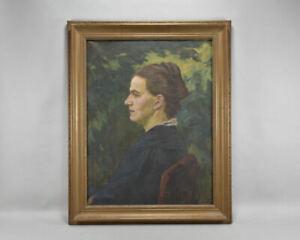 f95r36- Gemälde, Porträt einer Dame,  sign.