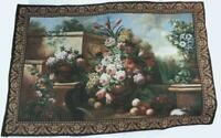 "Vintage Grecian Urn Tapestry Jacquard Woven Tapestry 54""x38"""