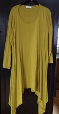 Bryn Walker Cotton Tunic Top Green Size L