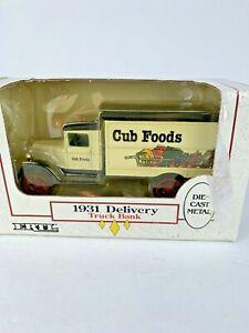 ERTL 1931 Delivery Truck Bank Cub Foods Die-Cast Metal 1/34 Die Cast NIB 1990
