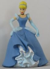 "EUC Princess CINDERELLA in 2Tone BLUE GOWN 3.25"" Disney PVC Figurine CAKE TOPPER"