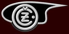 """ČZ EMBROIDERED PATCH ~4-3/8"""" x 2"""" CZ ČEZET 175 MOTORCYCLE 250 BIKE 350 JAWA 500"""