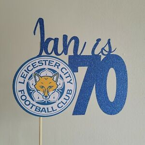Leicester Personalised Cake Topper City Football Club Glitter the foxes