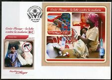 NIGER 2017  RED CROSS BATTLE AGAINST MALARIA  SOUVENIR SHEET FIRST DAY COVER