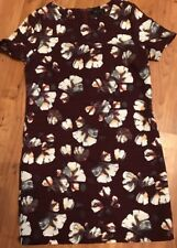 Ladies Dress Maroon Floral Dress From       New Look Vgc Size 8