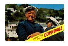 Greetings From Cornwall - Fisherman Postcard