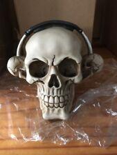 Skull Head W/head Phones Resin CREEPY
