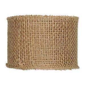 Ribbon Natural Hessian Jute 10cm (4 inches) x 25m (27yd) Roll
