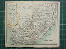 1904 SMALL MAP ~ SOUTH AFRICA ~ CAPE COLONY ORANGE RIVER COLONY NATAL TRANSVAAL