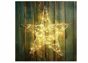 The Christmas Workshop 70389 3D Metal Star 200 Warm White LED Lights
