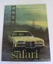 1971 Pontiac Brochure
