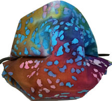 Adjustable Face Mask Festive Fireworks Batik Boho Tie dye Fabric 100% Cotton USA