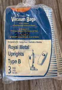 Lot Of 9 Genuine Royal Vacuum Bags Micro-Fresh Paper Bag Type: B #3671075001