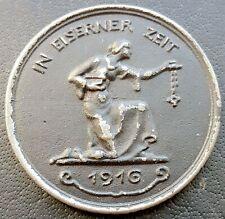 ✚9250✚ German WW1 Gold Donation Commemorative Iron Medal 1916 IN EISERNER ZEIT