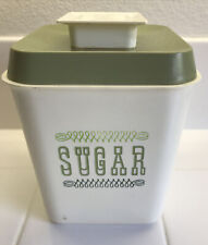 (1) Vintage Collectible Sugar Container 1970s With Avocado Green Lid * Pre-Owned