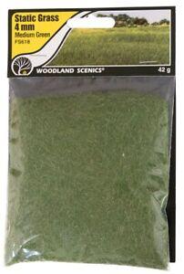 Woodland Scenics Static Grass Medium Green 4mm # FS618