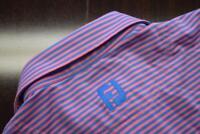 41107 Mens FootJoy Dry Fitting Striped Short Sleeve Golf Polo Shirt Size Medium