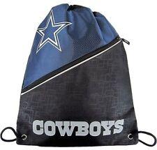Dallas Cowboys NFL Diagonal Zip Drawstring Bag