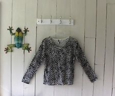 Nicole Simone Signature Collection Leopard Print Sweater Size Large