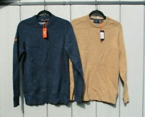 Superdry Mens Harlo Crew Jumper Lambswool Sweater Med, Lge, Ex Lge New With Tags