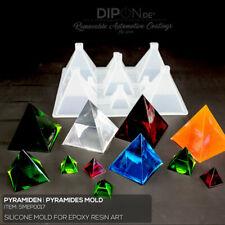 Epoxidharz Silikonform Pyramiden I Pyramides Gußform Epoxy Resin Silicone Mold