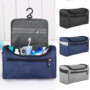 Travel Wash Bag Toiletry Organizer Shaving Cosmetic Make-up Case Waterproof Mens