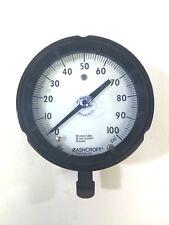 Ashcroft Duragauge Bronze Tube, Brass Socket, Brazed 0-100 PSI Pressure Gauge