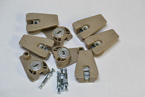 8 x Exzenter Verbinder Verbindungsbeschlag mit Doppeldübel